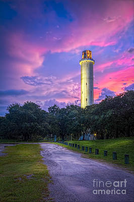 Tower In Sulfur Springs Art Print by Marvin Spates