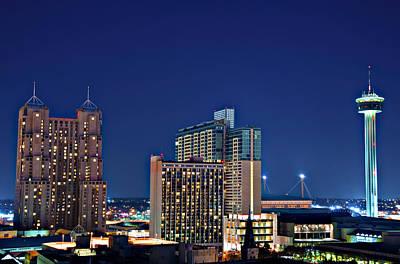 Tower Of America In San Antonio Texas City  Aerial Art Print