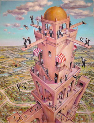 Tower Of Babbit Art Print by Henry Potwin