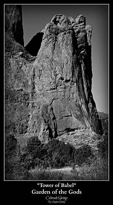 Tower Of Babel - Garden Of The Gods Art Print by Stephen Stookey
