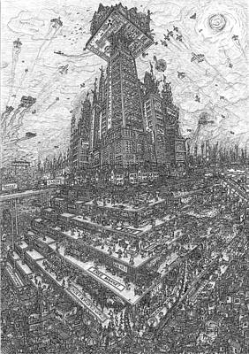 Tower Of Babel Drawing - Tower Of Babel by Snublic Drawings