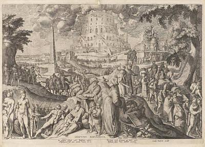 Tower Of Babel, Zacharias Dolendo, Jacob De Gheyn II Art Print by Zacharias Dolendo And Jacob De Gheyn (ii) And Cornelis Danckerts (i)