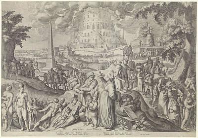 Tower Of Babel, Zacharias Dolendo, Jacob De Gheyn II Art Print by Zacharias Dolendo And Jacob De Gheyn (ii) And Willem Jans
