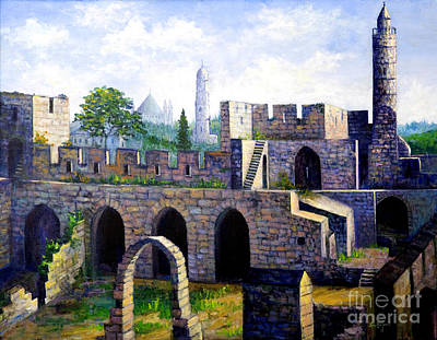 Painting - Tower Of David by Lou Ann Bagnall