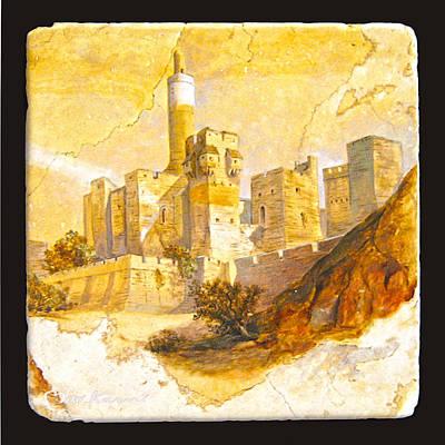 Tower Of David Art Print by Miki Karni