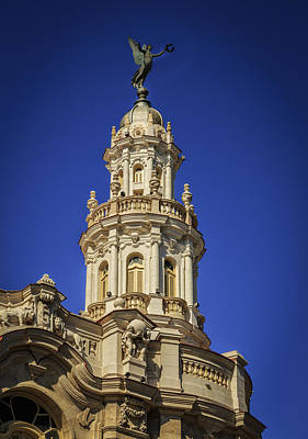 Tower Of Former Centro Gallego Art Print by Levin Rodriguez