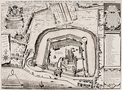 Photograph - Tower Of London, 1597 by Granger