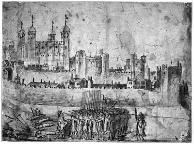 Tower Of London Drawing - Tower Of London, 1600s by Granger