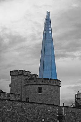 Photograph - Tower Of London And The Shard by Phil Stone