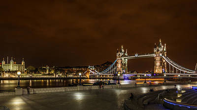 London Skyline Royalty-Free and Rights-Managed Images - Tower of London and Tower Bridge by Izzy Standbridge