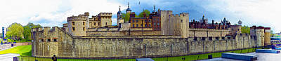 Tower Of London Panoramic View Original by Don Kuing