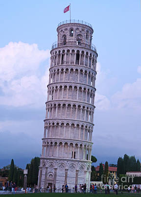 Photograph - Tower Of Pisa - Evening Light by Phil Banks