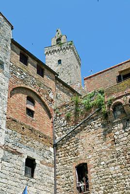 Tower Of San Gimignano, Unesco World Art Print by Nico Tondini
