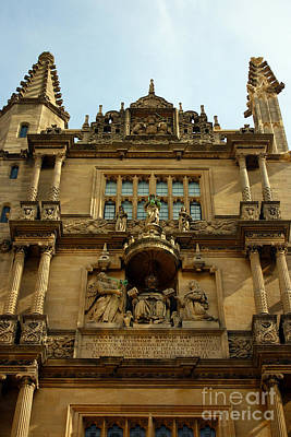 Photograph - Tower Of The Five Orders Bodleian Library Oxford by Terri Waters