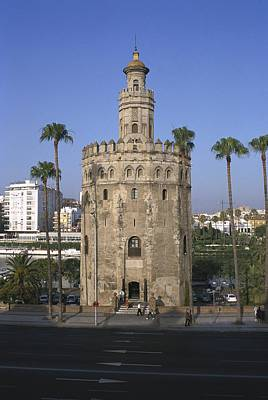 Al Andalus Photograph - Tower Of The Gold. 13th C. Spain by Everett