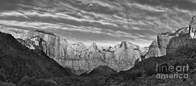 Zion National Park Digital Art - Tower Of The Virgin  by Jerry Fornarotto
