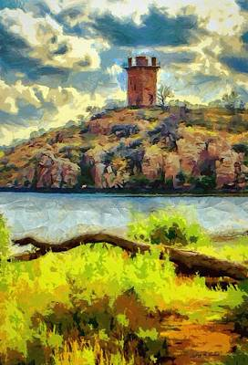 Tower On The Bluff Print by Jeff Kolker