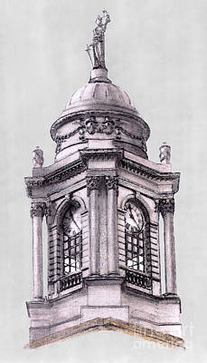 Tower Over City Hall New York City Art Print by Gerald Blaikie