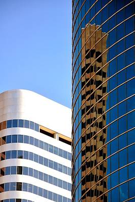 Jerry Sodorff Royalty-Free and Rights-Managed Images - Tower Reflection 5042 by Jerry Sodorff