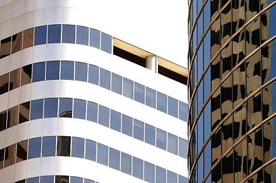 Jerry Sodorff Royalty-Free and Rights-Managed Images - Tower Reflection 5402 2 by Jerry Sodorff