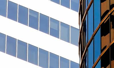 Jerry Sodorff Royalty-Free and Rights-Managed Images - Tower Reflection 5402 3 by Jerry Sodorff