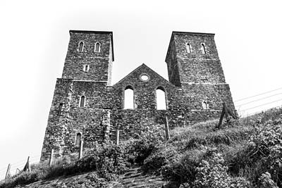 Reculver Photograph - Tower Ruins. by Gary Gillette