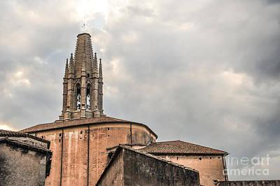 Girona Photograph - Tower Sant Feliu Church by Liesl Marelli