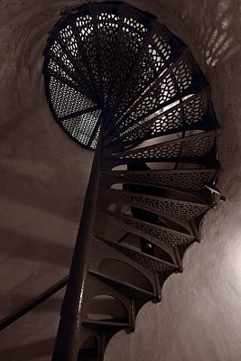 Metal Work Photograph - Tower Stairs by Steve Gadomski