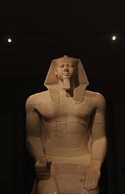 Photograph - Towering Egyptian Pharaoh At Mfa by Michael Saunders