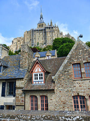 Photograph - Towering Mont St. Michel by Crystal Nederman