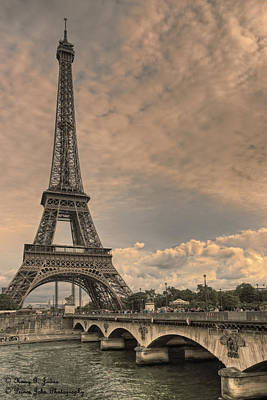 Photograph - Towering Over Pont D'iena  by Hany J