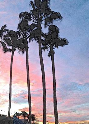 Photograph - Towering Palms by Ruth Edward Anderson