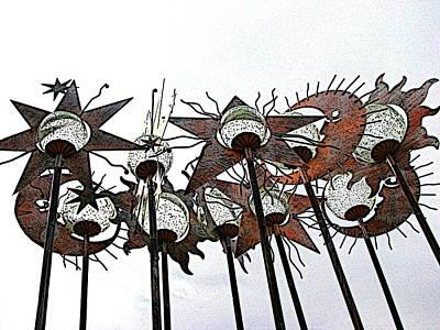 Digital Art - Towering Totems by Ben Freeman