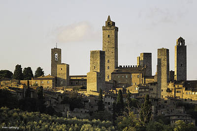 Photograph - Towers Of San Gimignano by Fran Gallogly