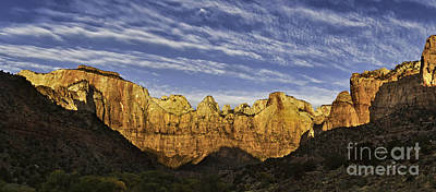 Zion National Park Digital Art - Towers Of The Virgin by Jerry Fornarotto