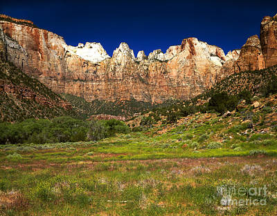 Rock Altar Photograph - Towers Of The Virgin, Zion National by Rafael Macia
