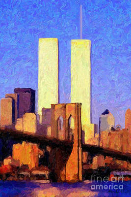 Towers Sunset  Art Print