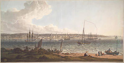 Town And Harbour Of Liverpool Art Print