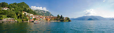Town At The Lakeside, Lake Como, Como Print by Panoramic Images