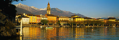 Town At The Waterfront, Ascona, Ticino Art Print