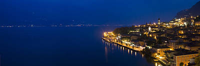 Town At The Waterfront, Limone Sul Art Print by Panoramic Images
