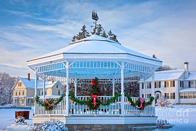 Photograph - Town Bandstand At Christmas by Susan Cole Kelly