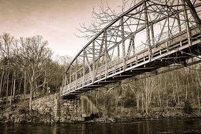 Town Bridge Collinsville Connecticut Art Print
