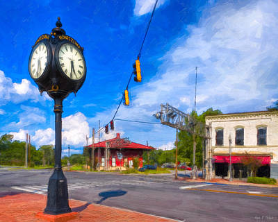 Photograph - Town Center - Montezuma Georgia by Mark E Tisdale