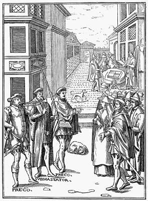 Town Crier, 1557 Art Print