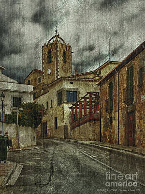 Photograph - Town Hall And Church Bell Tower by Pedro L Gili