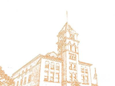Art Print featuring the photograph Town Hall Lancaster Ny by Jim Lepard