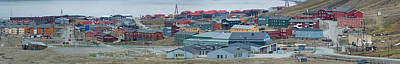Town In A Valley, Longyearbyen Art Print by Panoramic Images