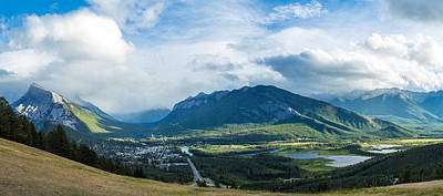 Canadian Rockies Photograph - Town Of Banff In The Bow Valley by Panoramic Images