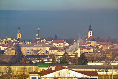 Photograph - Town Of Bjelovar Winter Skyline by Brch Photography